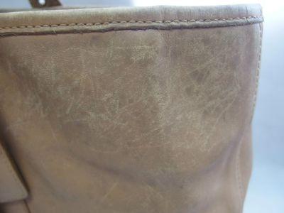torebka skórzana przed renowacją