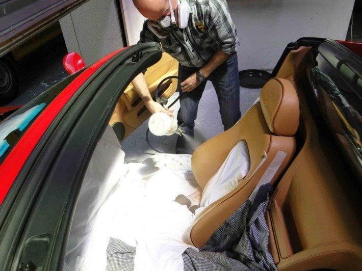 Renowacja profesjonalna pistoletem lakierniczym