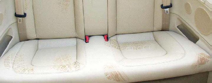 Ślady po oponach na tapicerkach skórzanych
