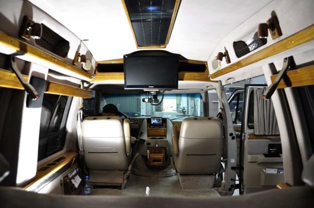 Całe wnętrze Chevrolet Chevy Van