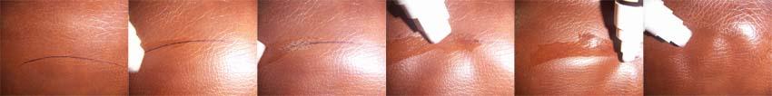 Usuwanie śladów po długopisie ze skóry