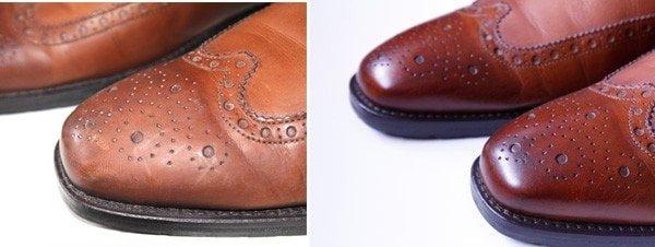 Buty skórzane czyszczenie i konserwacja