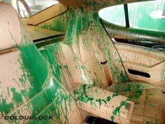 Porsche Panamera 4s – zielona farba w kokpicie